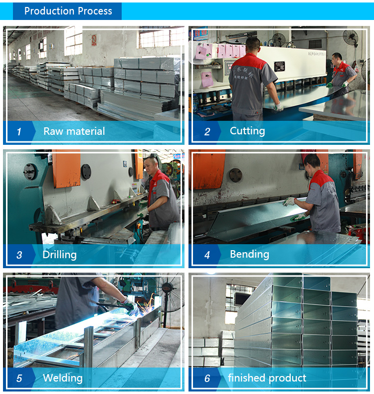 Galvanized heavy duty trough cable trunking and electrical cable tray wiring accessories