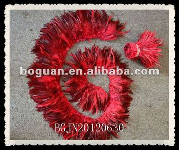 Wholesale Burgundy Rooster Feathers