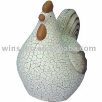 Ceramic Chicken with crack painted