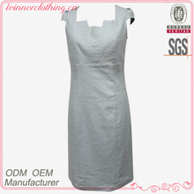 High Quality Fashion Promotional plain white dresses for girls
