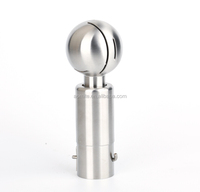 sanitary stainless steel spray rotary cleaning ball