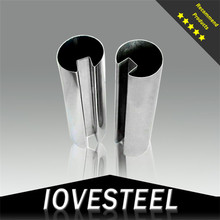 Iovesteel square steel pipe connection 8k standard coaxial stainless steel pipe