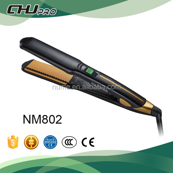 Vibrator flat iron hair straightener and induction hair straightener