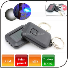 Mini keychain Light fashion gift money detector solar powered UV led flashlight solar keyring light