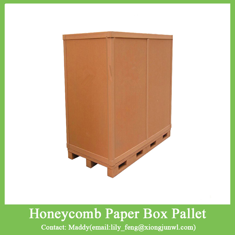 Environmental protective honeycomb paper carton board boxes with pallet underneath
