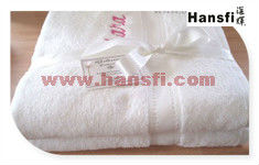 "16"" x 29"" 100% cotton white hair towel"