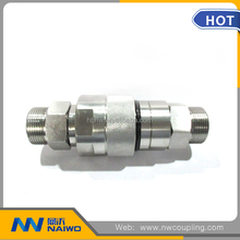 "stainless steel 304 hydraulic 1/4"" bsp thread quick coupling pipe fitting"