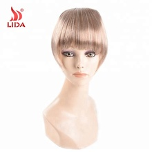 Pony Clip In lichtbruin Krullend Fringe China Leverancier Hot Selling Synthetische pony