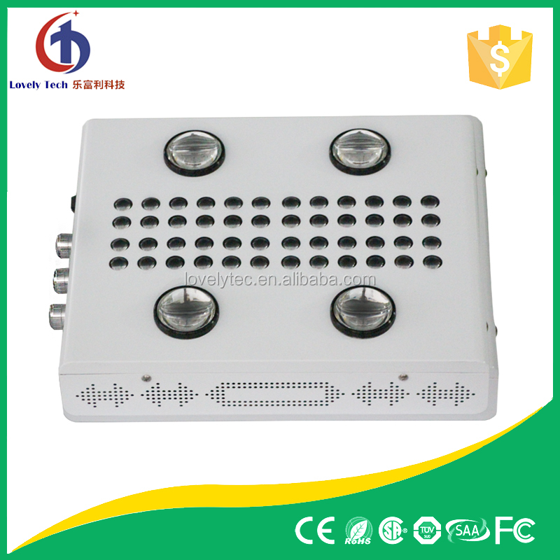 Lovely manufacture high lumen real output 350 watt led grow light with 3 dimmers