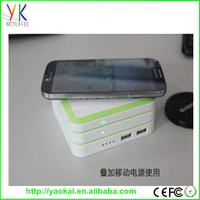 fashion original patent design wireless power bank for iphone 6 5 5s GALAXY s3s4 s5