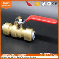 LB-GutenTop female brass ball valve with steel handle from China
