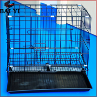 Pet Supplies Dog Cat Stainless steel Iron Cage With Plastic Tray