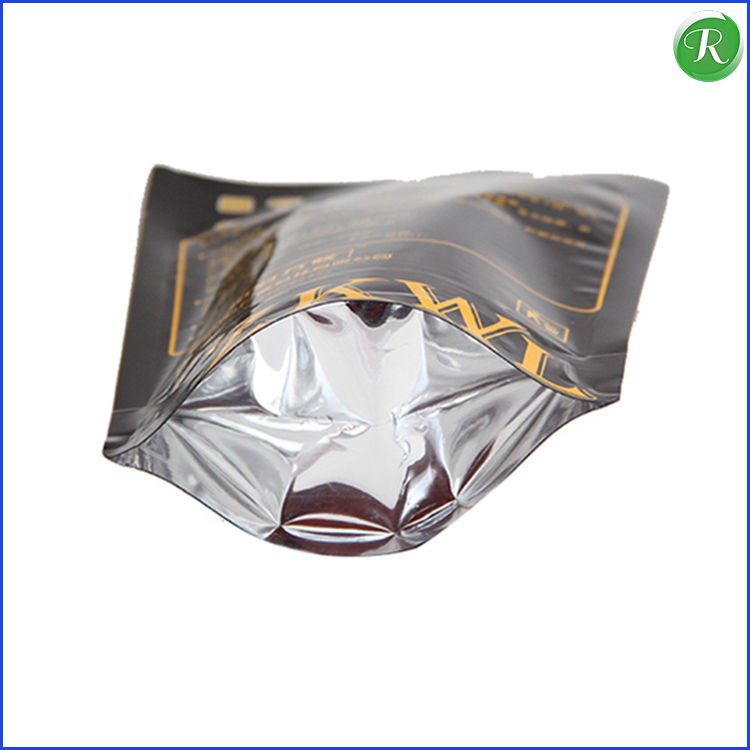 Matee Film & Aluminum Foil Ziplock Stand Up Pouch With Bottom Gusset For Packaging Food