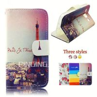 Wholesale cell phone cases color printing leather case for Lenovo A360 A326