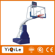 Electric hydraulic basketball stand