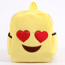 2016 Kids Cartoon Picture Emoji Plush Bookbag Of School Bag