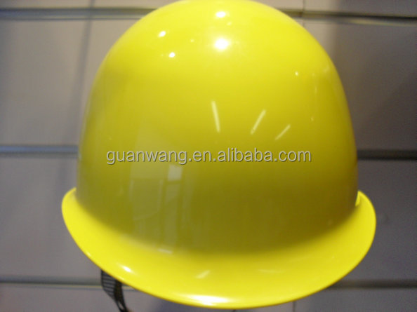 FRP construction military safety helmet type /Industry yellow round smooth hard hat /standard safety helmet CE ANSI