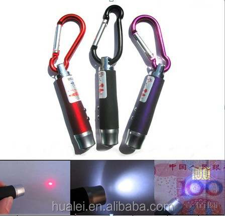 LED function of laser and UV pen buckle