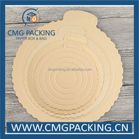 High end paper round cake tray