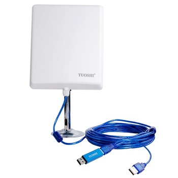 36dBi outdoor high wifi antenna 150Mbps,2.4GHz,10m usb cable,Melon N4000