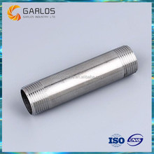 Stainless steel threaded both ends pipe barrel nipple