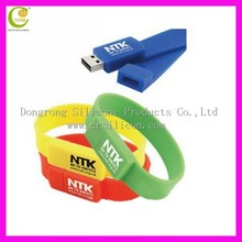 colorful silicone USB bracelet, Hot sale silicone USB wristband, wholesale funny shape USB memory stick