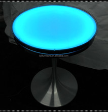 Bar nightclub furniture led liquid bar table glowing party event cocktail table led light round table