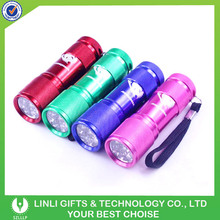 Multicolors High Light 9 Led AAA 2013 Small Torch