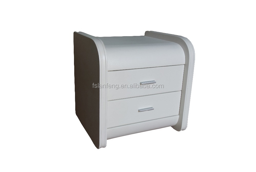 Hot sale faux leather bedside table/high quality night table