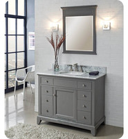 China factory direct oak wood classical mirror bathroom cabinet