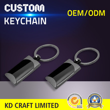 Free sample cheap custom blank metal black nickel plated different types of keychains no minimum