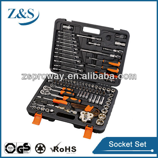120 pcs socket set/extension ratchet handle with universal multi socket