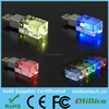 USB Flash Drive 8gb Hi Speed USB 2.0 Metal Crystal Glass LED Light USB Thumb Drive