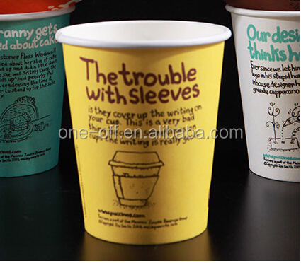 Printed letters disposable paper cups