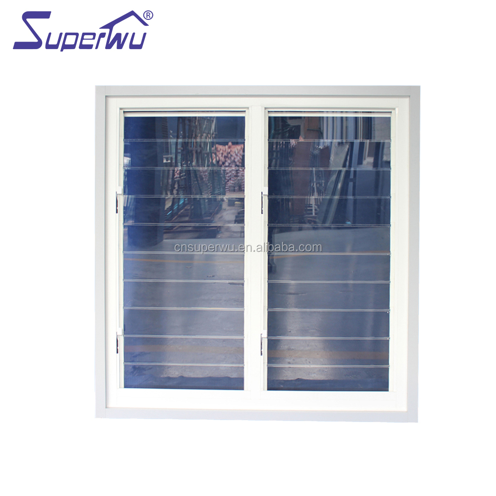 Standard commercial windows with high quality flyscreen Acrylic louvre windows