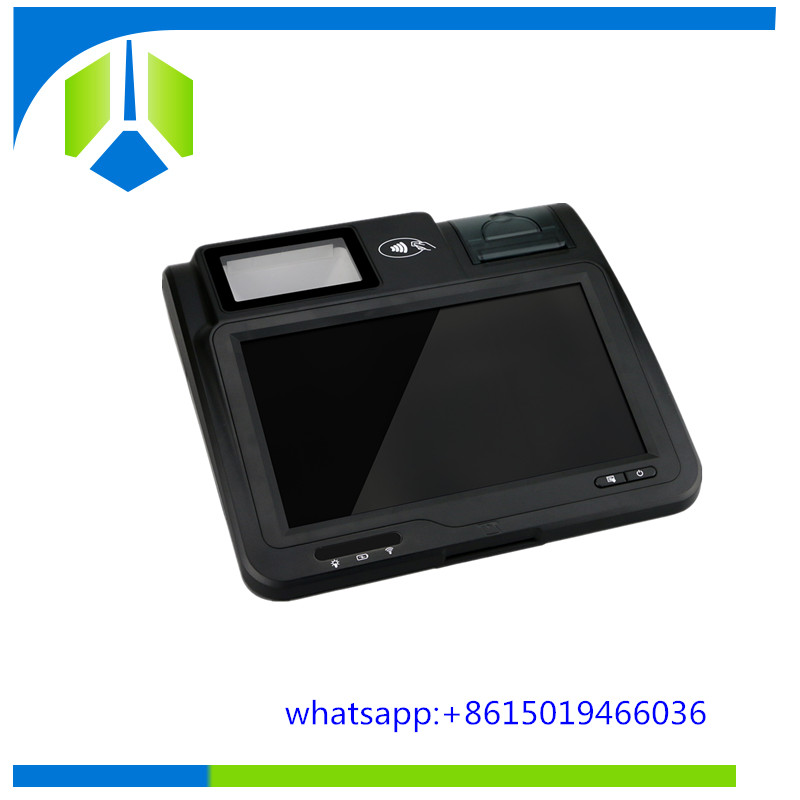 Tablet android pos terminal with receipt printer and barcode scanner ---Gc039B