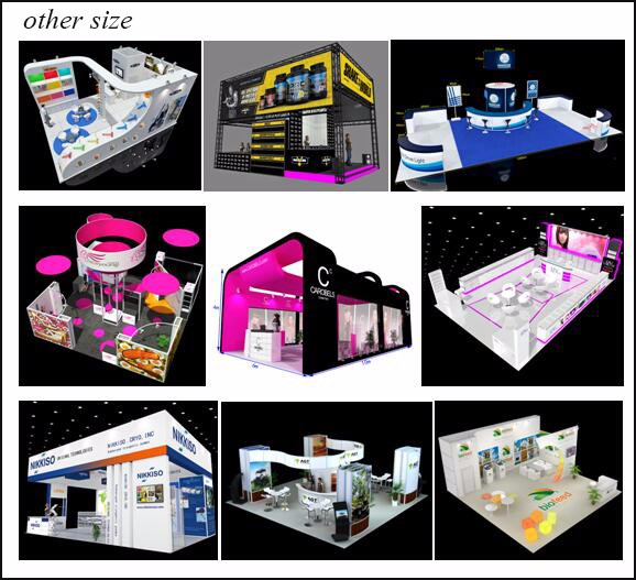 20 by 20 exhibition booth display for trade fair exhibition system