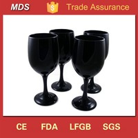 High quality depression black pewter wine glass goblets