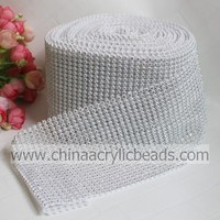 10Yard 24 rows white diamond crystal tape rolls sparkle wedding wrap roll decoration