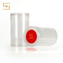 Creative clear plastic PVC gift Round Tube Packaging Box for T-shirt