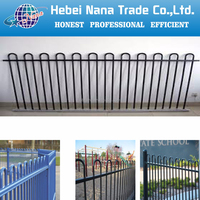 Quality decorative garden fence panels / galvanized flat panel fence gates