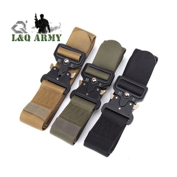 Men Military Nylon Buckle Waistband Belt Solid
