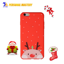 Mobile phone color printing christmas cases for iphone 6 / 6s / 7 / 8 plus , TPU cell phone cover red