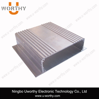 OEM Factory Silver Anodized Extruded Aluminum Electronic Extrusion Enclosure