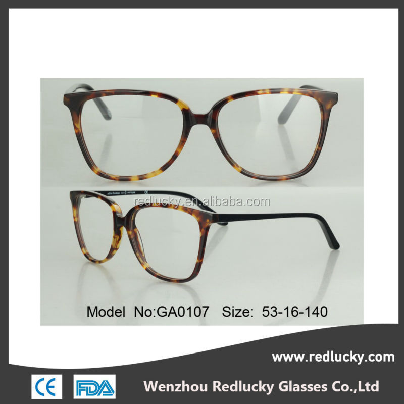 New popular color stainless frame acetate temple high quality optical frame
