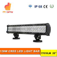 Flood / Spot / Combo Beam Dual Row crees led light bar 126w 20inch car