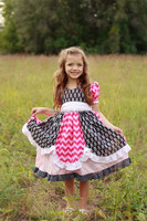 New Model Girls dress 2015 Little Girls Plain Cotton Summer Dress