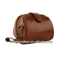 Custom Retro brown pu leather camera bag