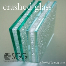 Top Quality Ice Crushed Laminated Glass 25mm/ 30mm Factory Supply