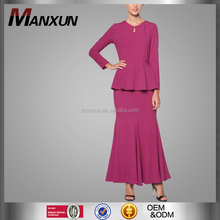 New arrival high quality muslim fashion baju kurung OEM islamic abaya